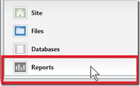 функцию WebMatrix отчетов для анализа вашего                         сайта