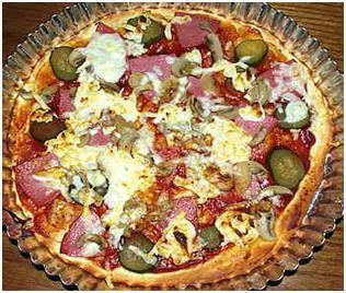 Как приготовить дома пиццу.