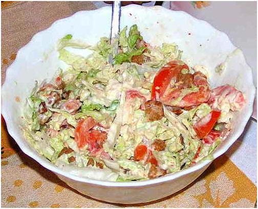 Как приготовить легкий салат.