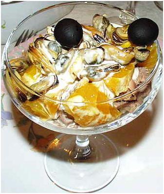 Салат-коктейль союз суши и моря